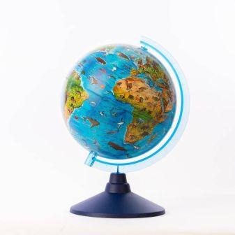Глобус Зоогеографический (Детский). Диаметр 250мм