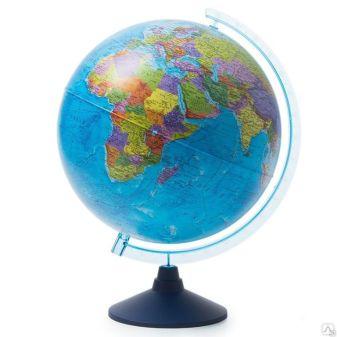 Глобус Земли политический с подсветкой от батареек. Диаметр 320мм