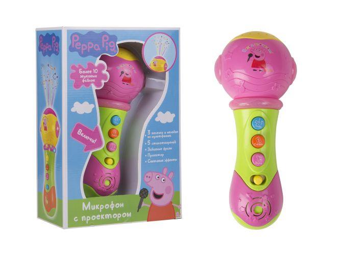 Музыкальный микрофон с проектором ТМ Peppa Pig