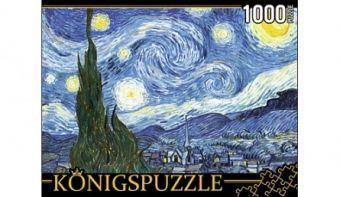 Konigspuzzle. ПАЗЛЫ 1000 элементов. АЛК1000-8254 ВАН ГОГ. ЗВЁЗДНАЯ НОЧЬ