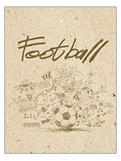 "Ноутб 96л 7БЦ А6 8991-EAC мат лам, резинка ""Футбол, карандашный рисунок"""