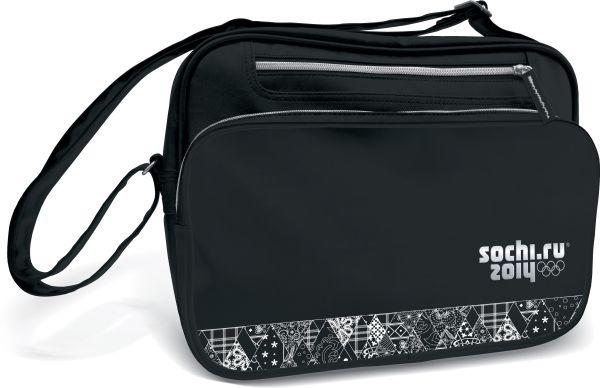 Сумка школьная с карманом на молнии. Размер 28 x 37 x 9,5 см, упак. 4//12 шт. Сочи-2012