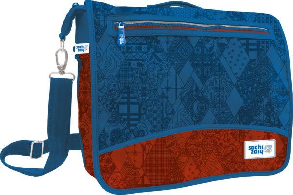 Сумка школьная с карманом на молнии на верхнем клапане 29,5 x 36 x 11 (19) см Сочи-2014