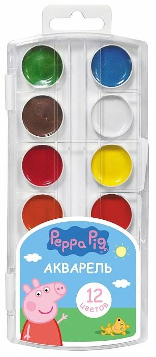 """Акварель 12 цв. """"Peppa Pig"""" умница"""
