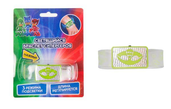 Светящийся браслет супергероя, Гекко, ТМ PJ Mask1