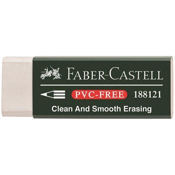 Виниловый ластик 7081 для чернографитовых и цветных карандашей, белый, в картонной коробке, 20 шт.