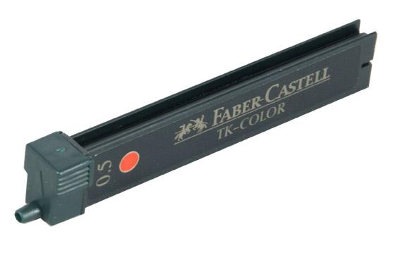 Графитные грифели TK® COLOR, красный, в картонной коробке, 12 шт.