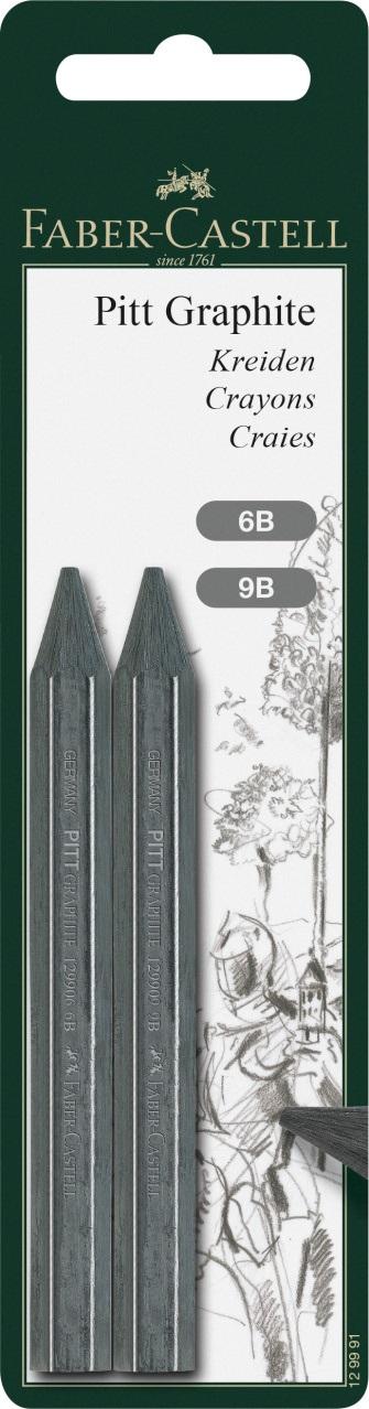 Графитные карандаши толстые, в блистере, 2 шт.