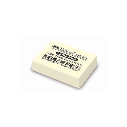 Ластик 7041 из каучука для  чернографитовых и цветных карандашей, белый, в картонной коробке, 20 шт.