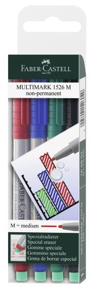 Капиллярная ручка MULTIMARK для письма на пленке, не перманентная, 1,0мм, в блистере, 4 шт.