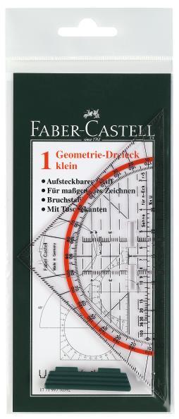 Многофункциональный треугольник КОМБИ, 160x80x2.2мм, в пластмассовом пенале, 1 шт.