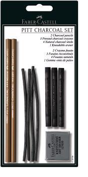 Набор PITT® MONOCHROME из пресованного угля, в блистере,10 предметов