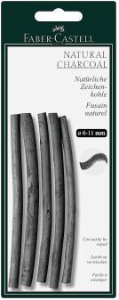 Натуральный уголь PITT® MONOCHROME, 7-12мм, в блистере, 5 шт.