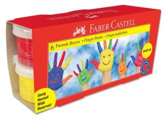 Пальчиковые краски, в карт. коробке, 6 шт., 45 мл.