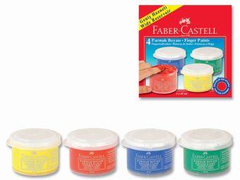 Пальчиковые краски, объем 45 мл, набор цветов в картонной коробке, 4 шт.