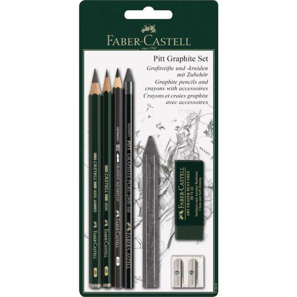 Пастельные карандаши PITT® и мелки PITT® Monochrome, в блистере, 6 предметов