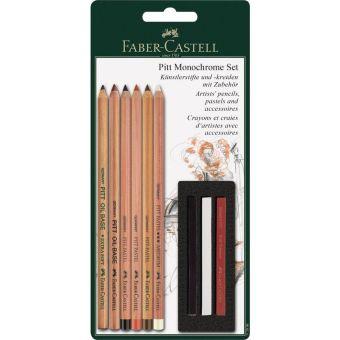Пастельные карандаши PITT® и мелки PITT® Monochrome, в блистере, 9 предметов