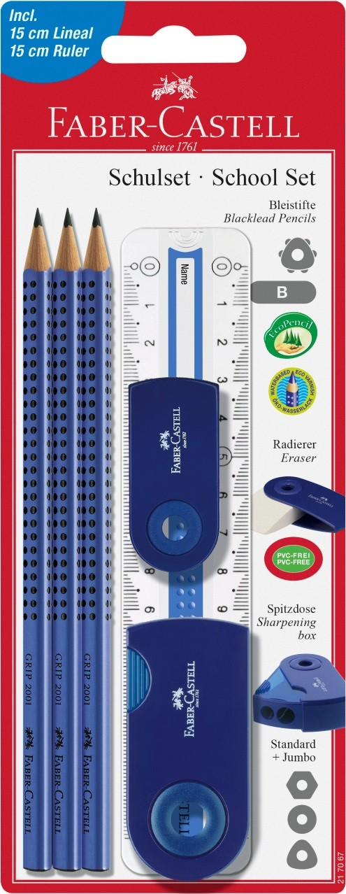 Специальные наборы с карандашами Grip 2001, в блистере, 6 шт., синий