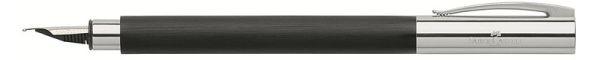 Перьевая ручка AMBITION EDELHARZ, F, черная смола, в подарочной коробке, 1 шт.
