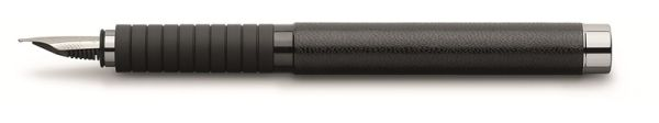 Перьевая ручка BASIC BLACK, M, натуральная кожа, в картонной коробке, 1 шт.