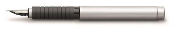 Перьевая ручка BASIC METAL, F, матовый хромированный металл, в картонной коробке, 1 шт.