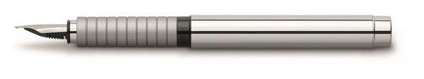 Перьевая ручка BASIC METAL, M, полированный хромированный металл, в картонной коробке, 1 шт.