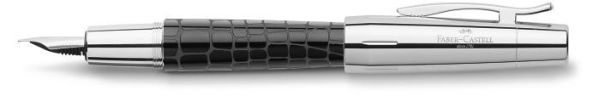 Перьевая ручка E-MOTION EDELHARZ CROCO, F, черная смола, в подарочной коробке, 1 шт.