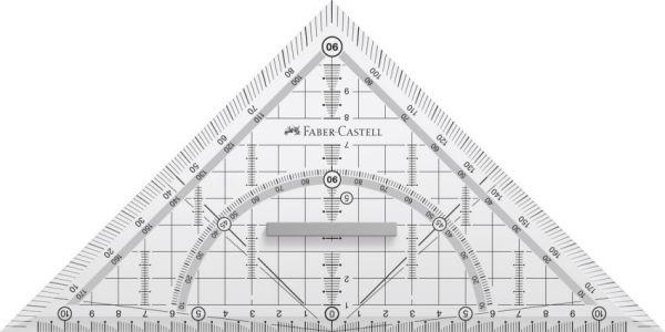 Треугольная линейка, 1 шт.