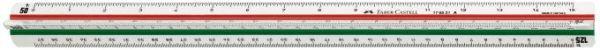 Трехгранная линейка 853 HP/A , для архитекторов 1:20 - 125, в пластмассовом пенале, 1 шт.