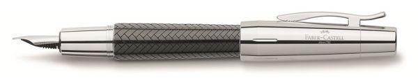 Перьевая ручка E-MOTION EDELHARZ PARKETT, B, черная смола, в подарочной коробке, 1 шт.