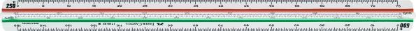 Трехгранная линейка 853 HP/B, для архитекторов 1:100 - 500, в пластмассовом пенале, 1 шт.