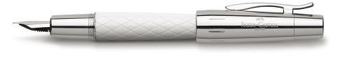 Перьевая ручка E-MOTION RHOMBUS, M, белая смола, в подарочной коробке, 1 шт.