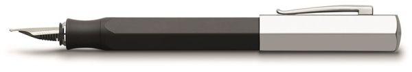Перьевая ручка ONDORO EDELHARZ, B, черная смола, в подарочной коробке, 1 шт.