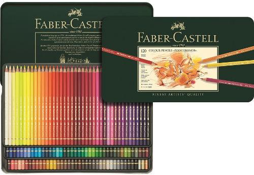 Цветные карандаши POLYCHROMOS®, набор цветов, в металлической коробке, 120 шт.