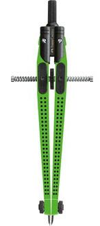 Циркуль QUICK-SET GRIP 2001, лайм, в пластмассовом пенале, 1 шт.
