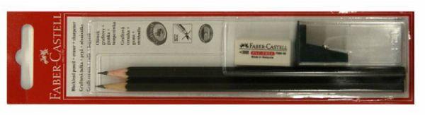 Чернографитовый карандаш 1111, HB, ластик DUST FREE, точилка с контейнером, в блистере, 2шт+1шт+1шт