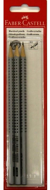 Чернографитовый карандаш GRIP 2001, твердость HB, H, 2B, в блистере, 3 шт.