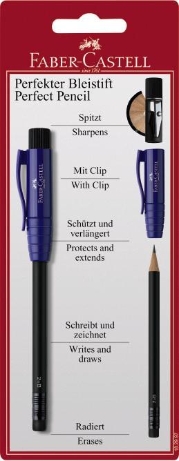 Чернографитовый карандаш PERFECT PENCIL, с точилкой, в блистере, 1 шт.