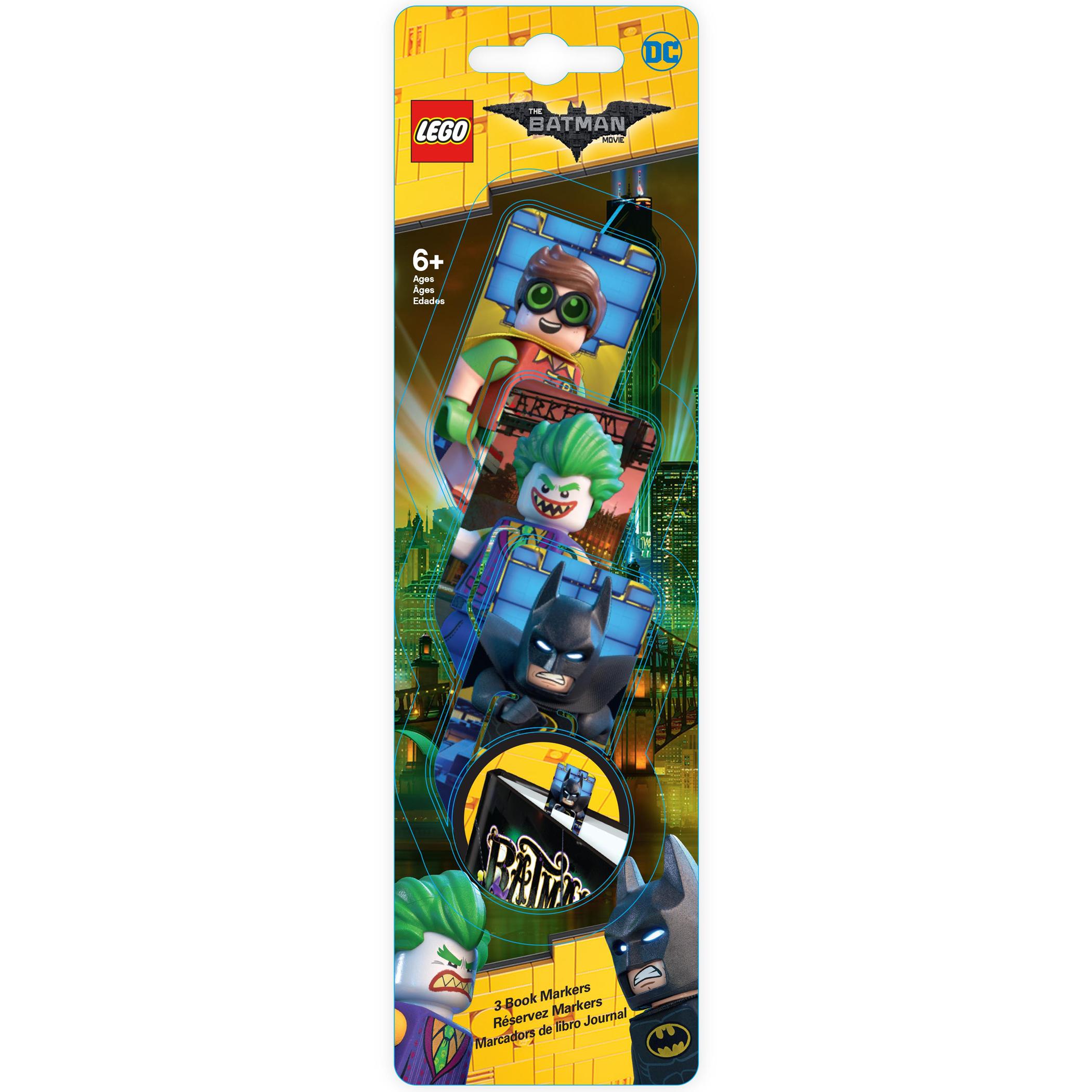 лучшая цена Набор закладок для книг (3 шт.) с лентикулярным изображением в формате 3D LEGO Batman Movie (Лего Фильм: Бэтмен)-Batman/ The Joker /Robin (51762)