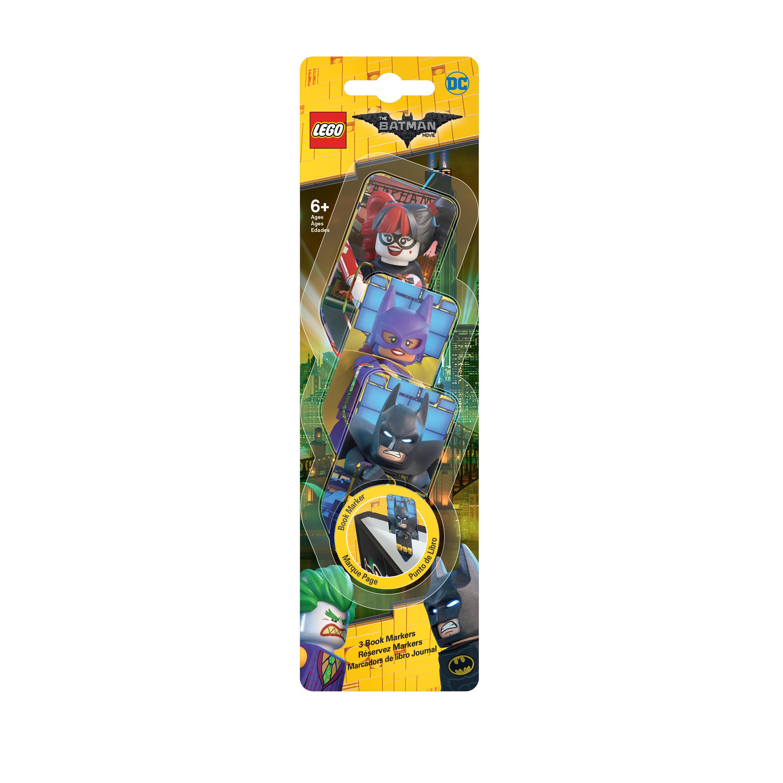 лучшая цена Набор закладок для книг (3 шт.) с лентикулярным изображением в формате 3D LEGO Batman Movie (Лего Фильм: Бэтмен)-Batman/Batgirl/Harley Quinn (51761)