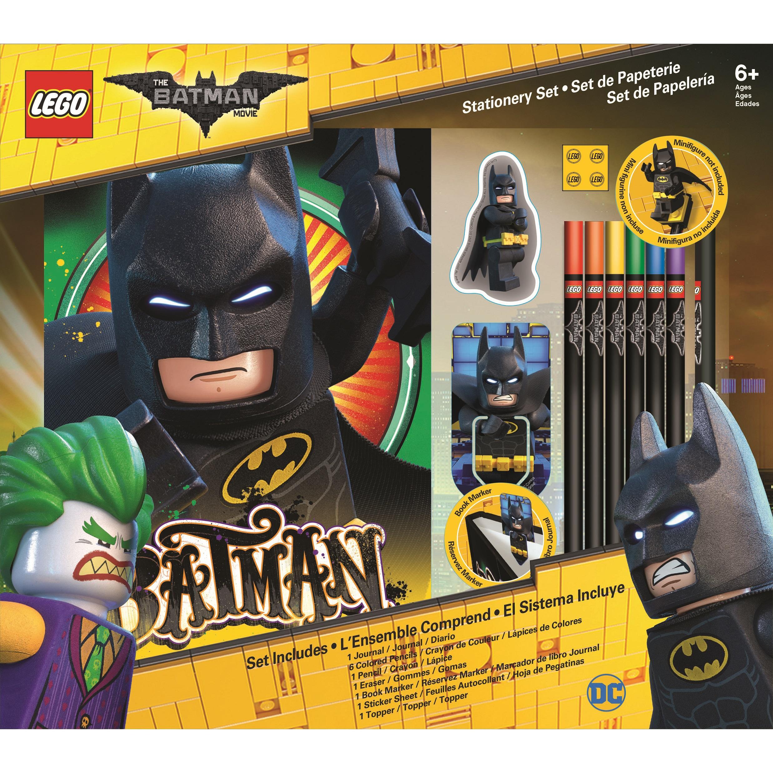 Набор канцелярских принадлежностей (12 шт. в комплекте) LEGO Batman Movie (Лего Фильм: Бэтмен) (51749)