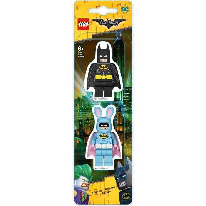 Набор ластиков (2 шт.) LEGO Batman Movie (Лего Фильм: Бэтмен)- Batman/Easter Bunny Batman (51757) невидимка для волос funny bunny розовые цветы 2 шт