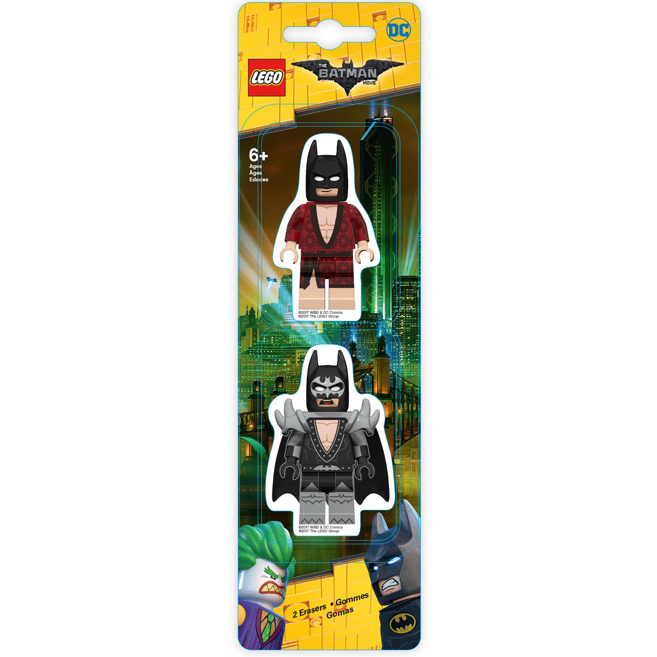 Набор ластиков (2 шт.) LEGO Batman Movie (Лего Фильм: Бэтмен)- Kimono Batman/Glam Rocker Batman (51758)