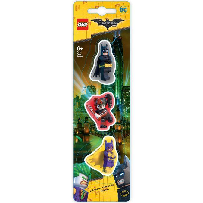 Набор ластиков (3 шт.) LEGO Batman Movie (Лего Фильм: Бэтмен)- Batman/Batgirl/Harley Quinn (51759)