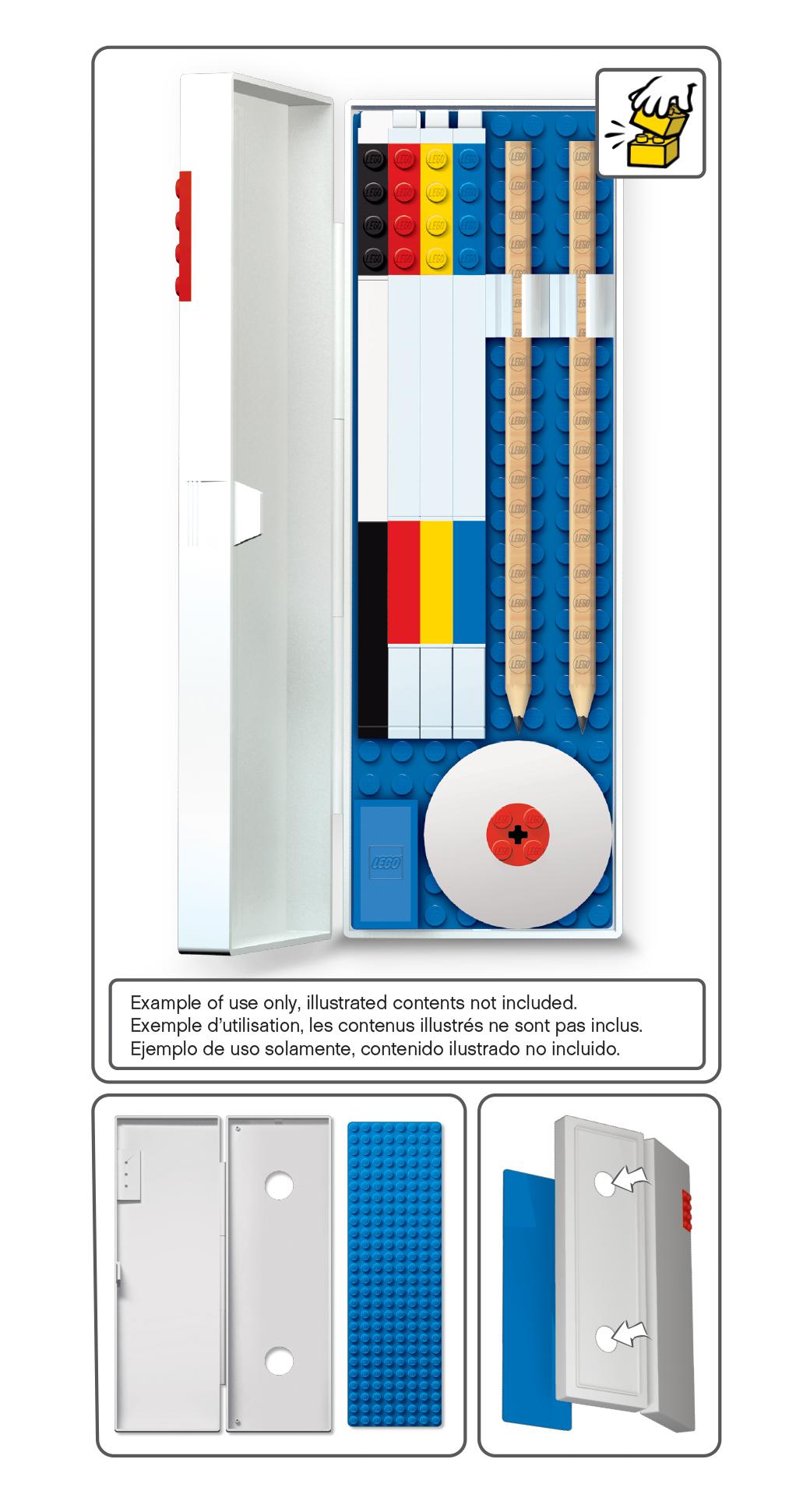 Пенал LEGO, цвет: красный (51521) lego пенал цвет красный lego