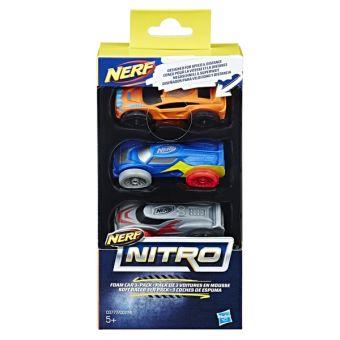 NERF Игрушка машинки НЁРФ НИТРО 3 штуки NERF