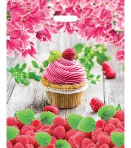 """Пакет полиэтиленовый """"Малиновый десерт"""" (36,5смх48см) ПП-7341"""