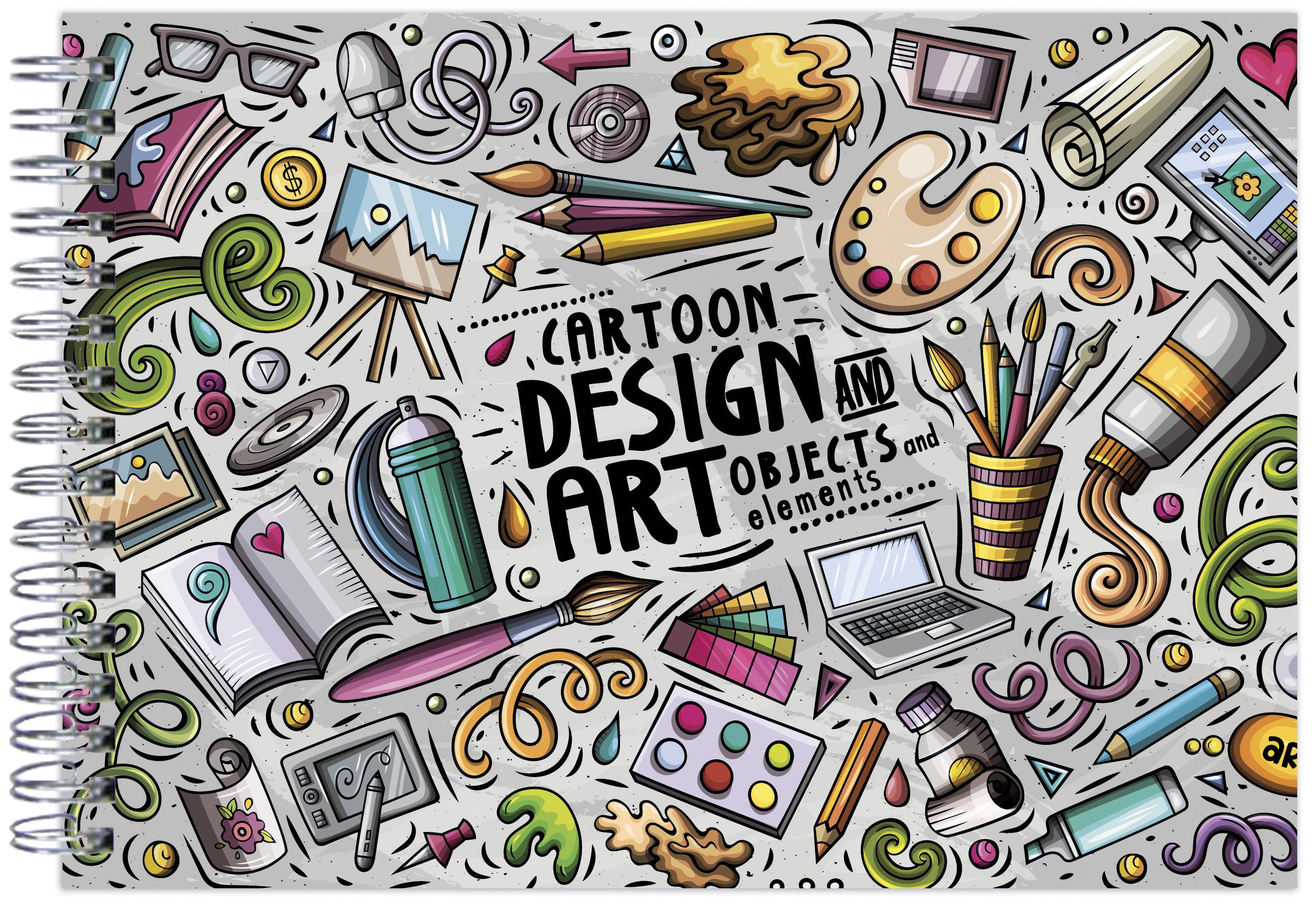 Design Art. Альбом для рисования (формат А4, офсет 160 гр., 50 страниц, евроспираль)