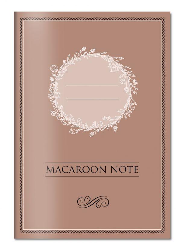 Блокнот с цветными страницами (шоколад, мягкая обложка, линовка, на скобе)