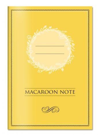 Блокнот с цветными страницами (желтый, мягкая обложка, линовка, на скобе)